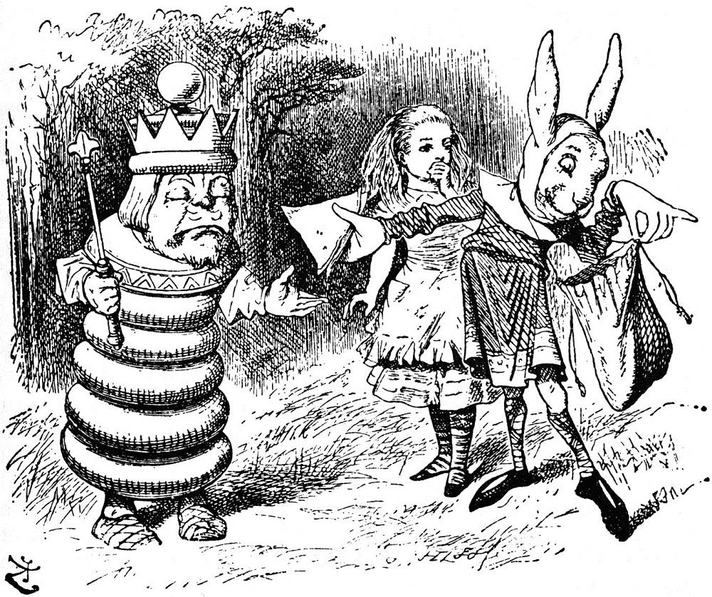 Lewis Carroll miroir échecs