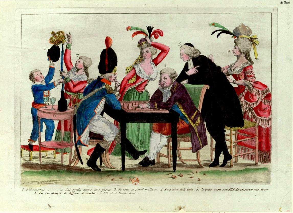 louis XVI échecs estampe